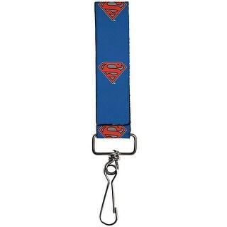 Superman Shield New 52 Pose Blue Key Fob One Size