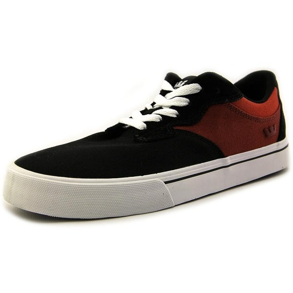 Supra Axle Men Round Toe Canvas Black Skate Shoe