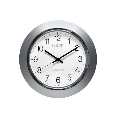 La Crosse Technology WT-3144S Atomic Time Analog Wall Clock