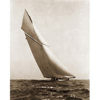 ''Yacht Reliance Under Full Sail, 1903'' by McMahan Photo Archive Sports/Games Art Print (10 x 8 in.)
