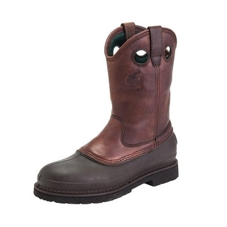 "Georgia Boot Work Mens 12"" Muddog ST Comfort Core Soggy Brown G5655"