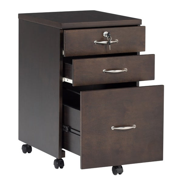 Shop Offex Newel Mobile 3 Drawer Wood Filing Cabinet with ...