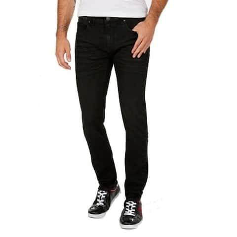 INC International Concepts Women's Stretch Slim Straight Jeans Black Size 30X32