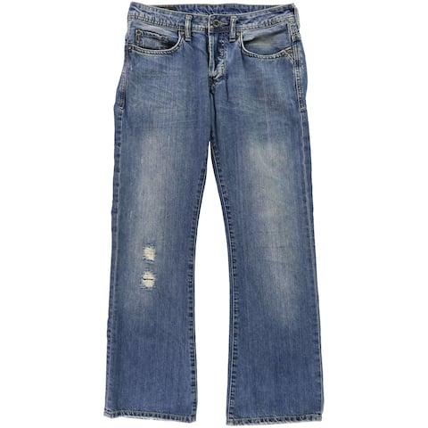 Buffalo David Bitton Mens Active Skinny Fit Jeans, Blue, 30W x 30L - 30W x 30L