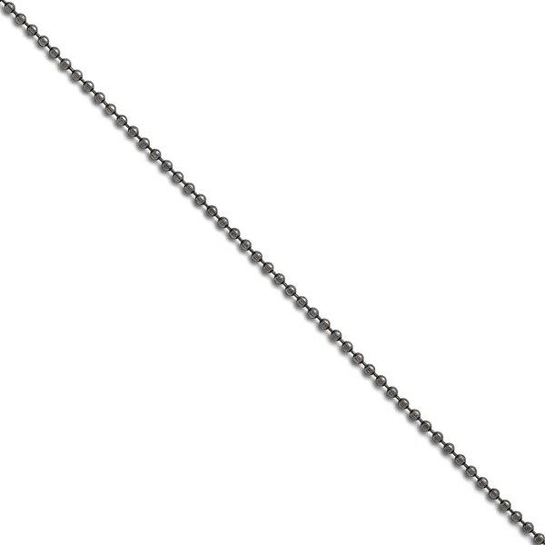Chisel Stainless Steel 2.40 mm 20 inch Beaded Ball Antiqued Chain (2.4 mm) - 20 in