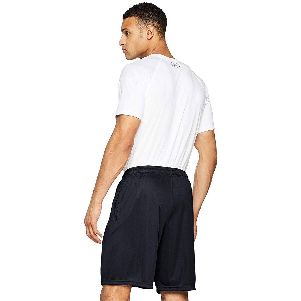 Under Armour Mens White Tech Graphic Pocketed Shorts 3XL