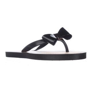 Report Jenski Bow Thong Flip Flops - Black