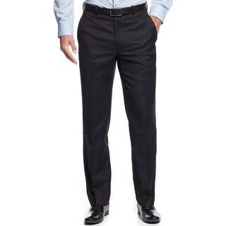 Alfani Red Label Slim Herringbone Flat Front Dress Pants Dark Blue 38 x 32