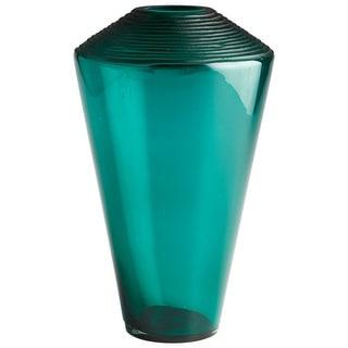 "Cyan Design Large Pietro Vase  Pietro 15.25"" Tall Glass Vase - Green"