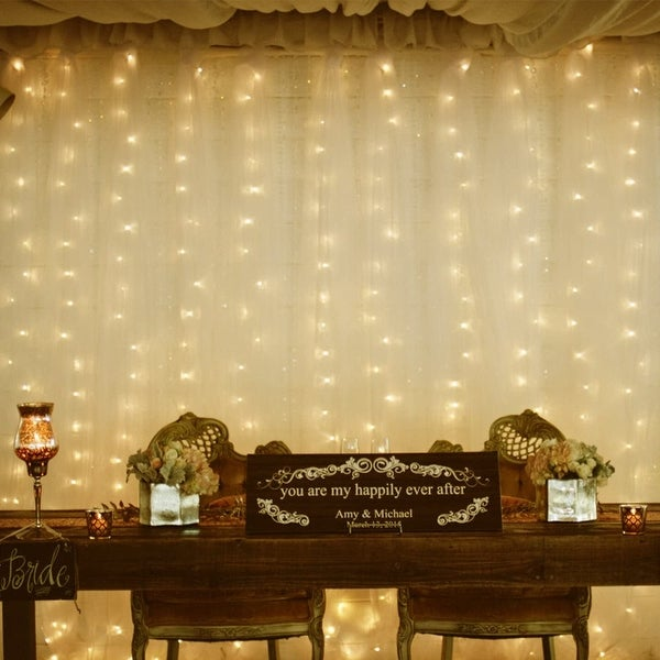 600 LEDs Window Curtain String Lights, RF Controller, 8 Lighting Modes, Warm White. Opens flyout.