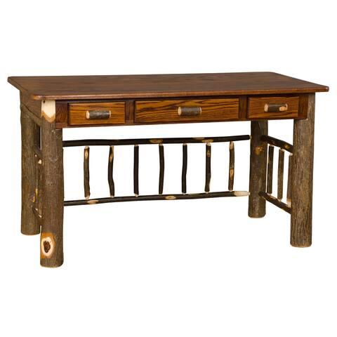 Hickory Log Foreman Desk