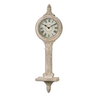 "49"" Briggita Antique Italian Style Distressed Wall Clock with Roman Numeral Display"