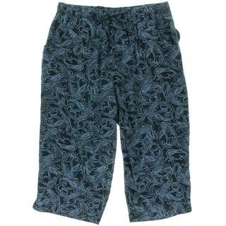 Karen Scott Womens Comfort Waist Printed Capri Pants