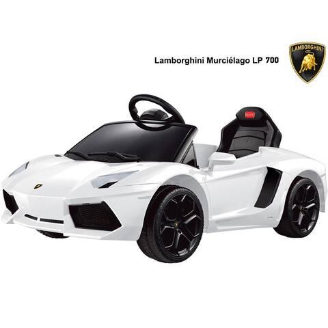 Rastar Lamborghini Aventador LP700-4 6v Remote Controlled Ride-On Car - White