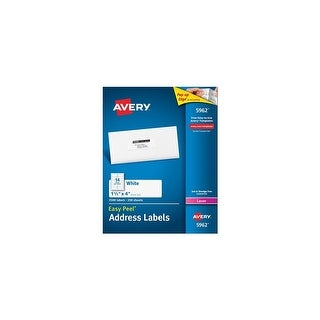 "Avery 5962 Easy Peel Mailing Address Labels w/ 1-1/3"" x 4"" Label Size, Permanent-Adhesive"