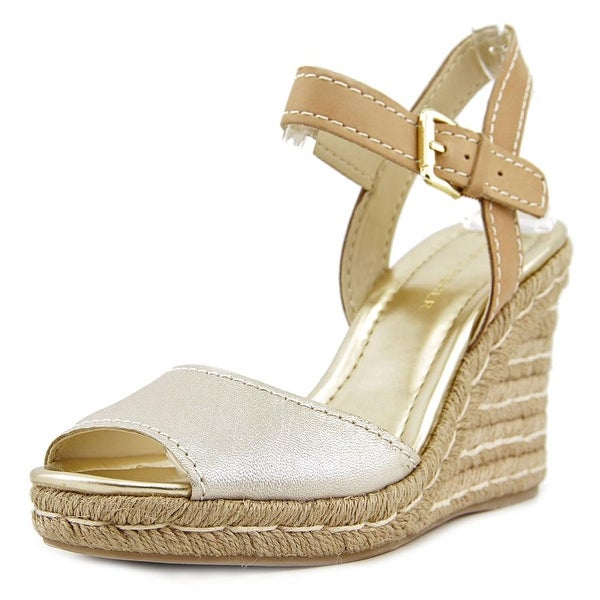 Marc Fisher Maiseey Open Toe Synthetic Wedge Heel