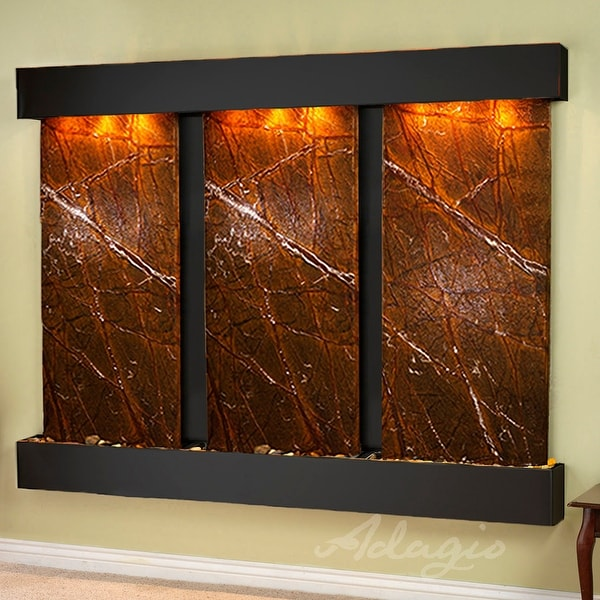 Deep Creek Falls Fountain - Blackened Copper - Squared Edges - Choose Options