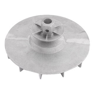 Silver Tone Aluminum 10mm Bore Diameter Blower Fan Vane Wheel