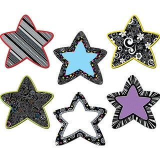Black And White Stars 6In Designer