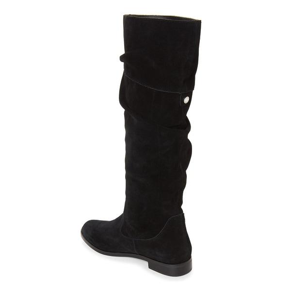 Steve Madden Womens Balen Suede Almond Toe Knee High Fashion Boots