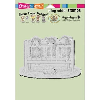 "Stampendous House Mouse Cling Stamp 6.5""X4.5""-Crib Time"