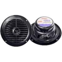 """Pyle 6.5"""" Hydra Marine Speakers Black 2-3/8"""" MD"""