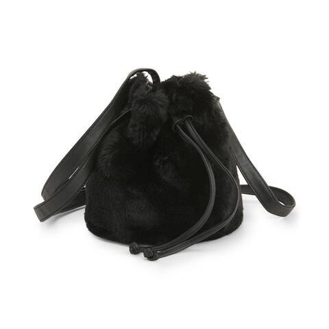 Aeropostale Womens Bucket Cross Body Handbag Purse, black, One Size - One Size