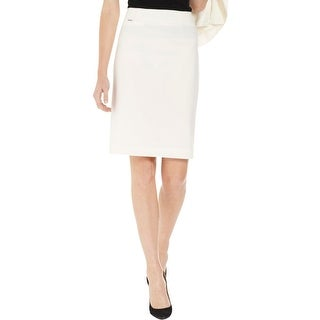 Calvin Klein Womens Pencil Skirt Solid Above Knee