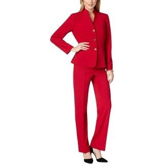 Tahari ASL Womens Petites Pete Pant Suit 2PC Long Sleeves
