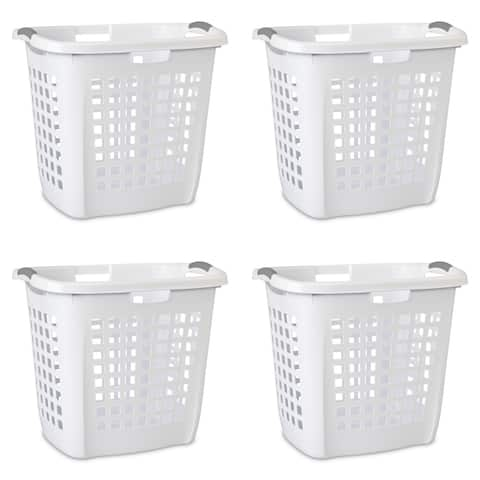 """Case of 4 Sterilite Ultra Easy Carry Hampers - 17.5 """" wide"""