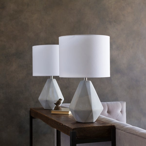 Kassidy Table Lamp With Natural Finish Concrete Base On Sale Overstock 12205889