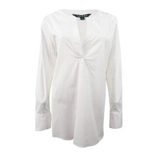 Lauren Ralph Lauren Women's Broadcloth Tunic (M, White) - White - m