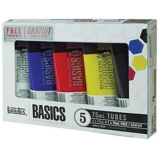 Liquitex Basics Acrylic Paint 75Ml/Tube 5/Pkg-Assorted Colors