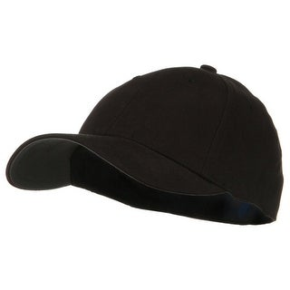 Low Profile Brushed Flex Cap - Black