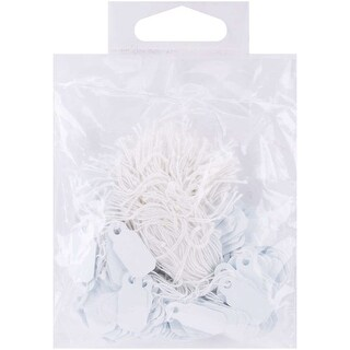 "Small Jewelry Hang Tags .25""X.75"" 200/Pkg-White - White"