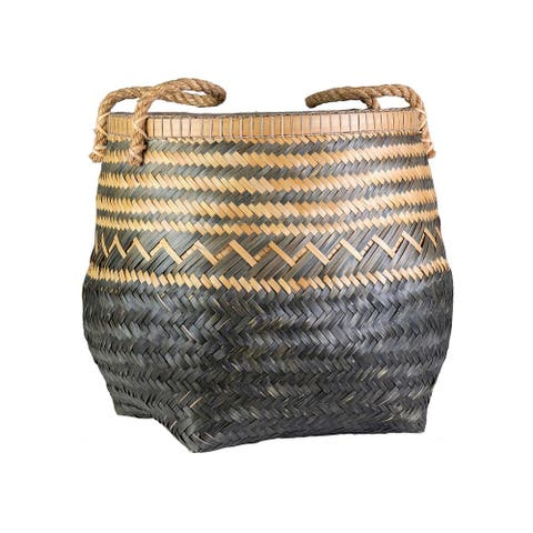 """East at Main Tully Bamboo Basket - 22"""" W x 22"""" D x 22"""" H"""