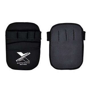 Grip Weight Lifting Pads Fitness Training Neoprene Gym Gloves Workout H-4 - Black
