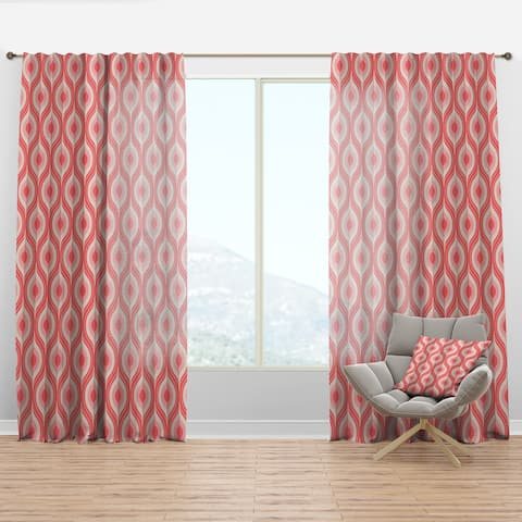 Designart 'Retro Drop Design I' Mid-Century Modern Curtain Panel