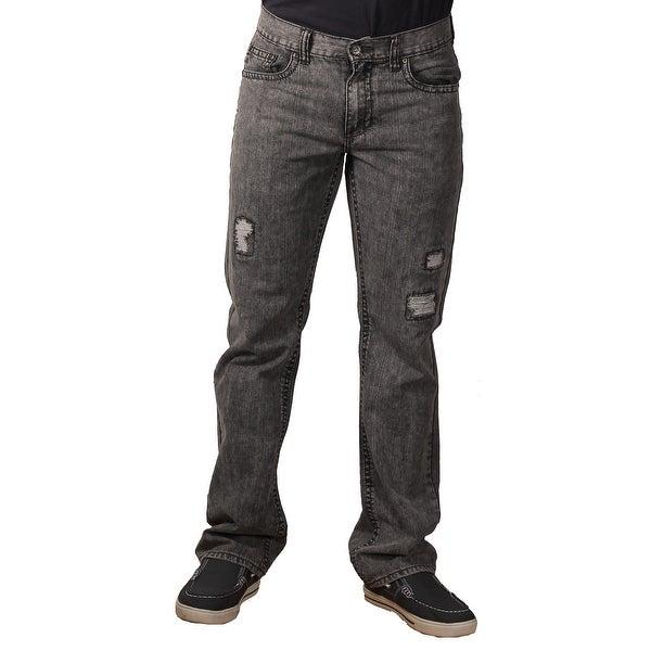 Request Men's Acidwash Rip-Torn Fashion Jeans Jeans