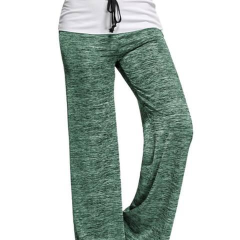 Women Wide Leg Pants-High Waisted Drawstring Casual Loose Yoga Lounge Palazzo Pants