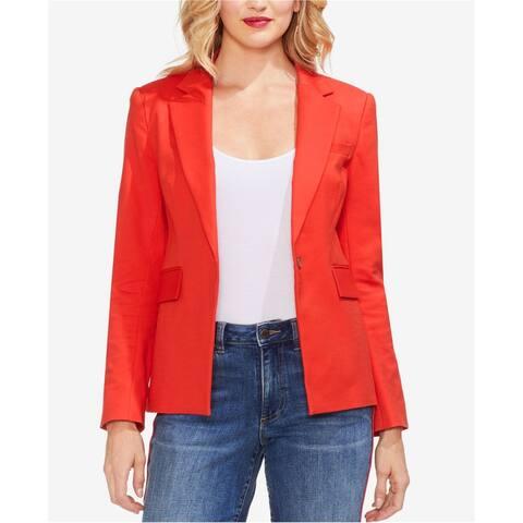 Vince Camuto Womens Lace-Up One Button Blazer Jacket, Orange, 8