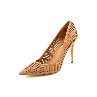 BCBGeneration Ovation Women Pointed Toe Leather Brown Heels