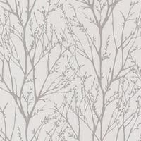 Brewster 2532-20426 Delamere Pewter Tree Branches Wallpaper