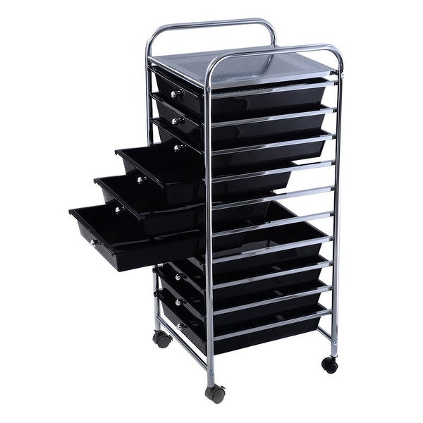 "35 2//5/"" Rolling Storage Cart 10 Drawer Scrapbook Paper Office School Organizer"