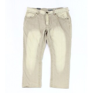 INC NEW Beige Mens Size 38X32 Five-Pocket Slim-Straight Leg Jeans