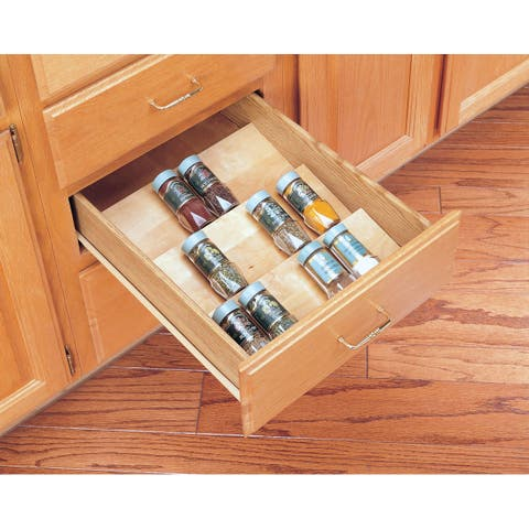 "Rev-A-Shelf 4SDI-18 4SDI Series 16"" Wide Spice Drawer Insert for Up To 18"" Base Cabinets - Natural Wood"
