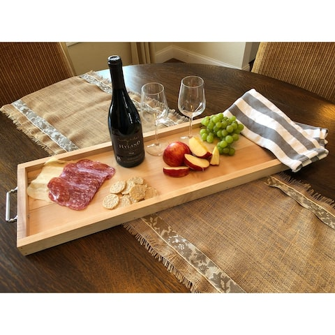 Maple Food Safe Charcuterie Serving Tray with Handles