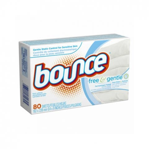 Bounce 80070 Free & Gentle Fabric Softener Dryer Sheets, 80-Count