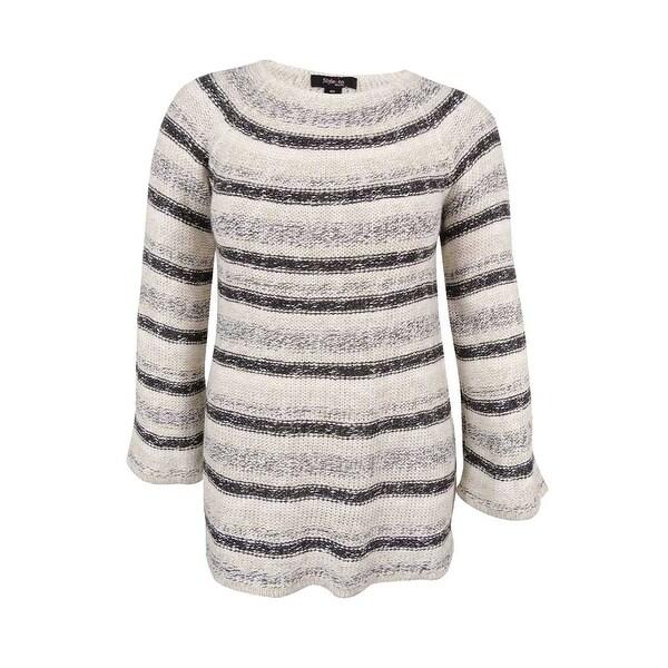 Style & Co. Women's Plus Size Metallic Striped Sweater