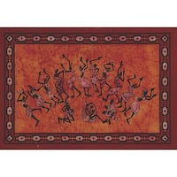 Handmade Cotton Tribal Dance Cotton Tapestry Tablecloth Coverlet Bedsheet 55x85
